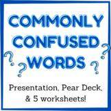 Commonly Confused Words PowerPoint, Note Sheet, and Practi