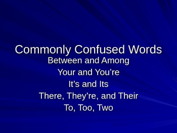 Commonly Confused Words Powerpoint