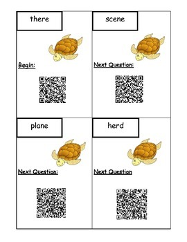 Commonly Confused Words QR Code Scavenger Hunt 4.L.1.G