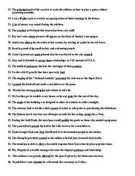 Commonly Confused Words Review Worksheet