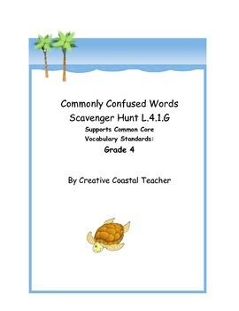 Commonly Confused Words Scavenger Hunt 4.L.1.G