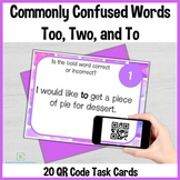 Too, Two, and To QR Code Task Cards Self-Checking for Dist