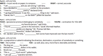 Commonly Confused Words Worksheet