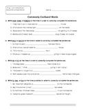 Commonly Confused Words Worksheets/Assessments