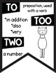 Commonly Confused Words in Print ~Black & White Posters~ Llama AlpacaTheme