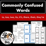Commonly Confused Words: to, too, two, there, they're, the