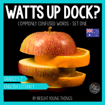 Commonly Confused Words - Watts Up Dock Task Cards - Set 1 (AU and US versions)