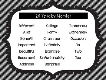 Commonly Misspelled Spelling Task Cards