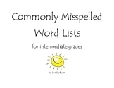 Commonly Misspelled Word Lists for intermediate grades