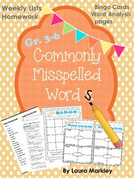 Commonly Misspelled Words: A 6-Week Unit for Grades 3-6