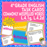 Commonly Misspelled Words - Flash Cards and Task Cards