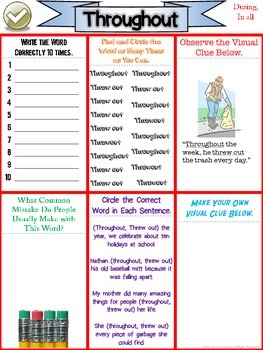Commonly Misspelled Words - Spelling Drills