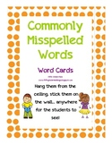 Commonly Misspelled Words-- Student reference cards