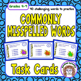 Commonly Misspelled Words Task Cards
