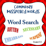 Commonly Misspelled Words Word Search