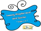 Commonly Misspelled Words Word Searches