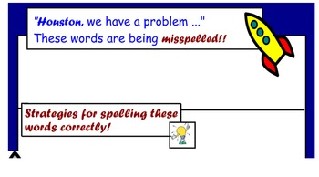 Commonly Misspelled words SMART notebook template
