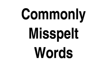 Commonly Misspelt Words