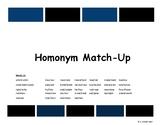 Homonym Match-Up