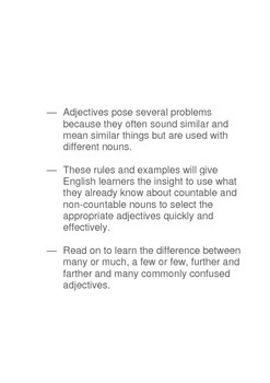 Commonly confused adjectives