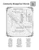 Commonly misspelled words B word search worksheet puzzle