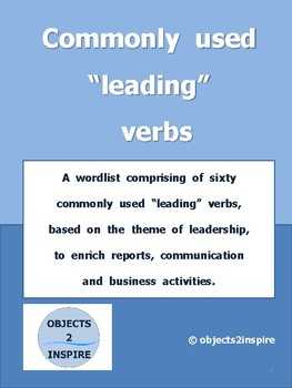 "Commonly used ""leading"" verbs: a list of verbs related to leading"