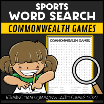 Commonwealth Games 2018 Sports Word Search Find
