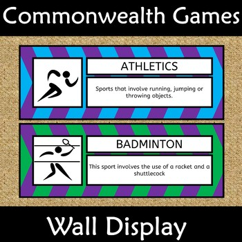 Commonwealth Games 2018 Wall Display Anchor Poster