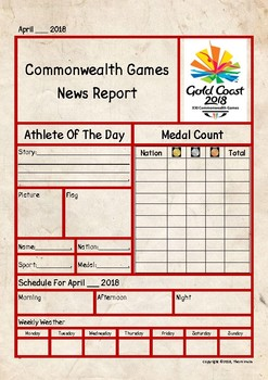 2018 Commonwealth Games Newspaper Report