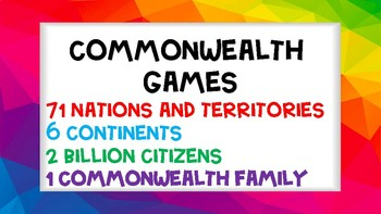 Commonwealth Games Nations & Territories