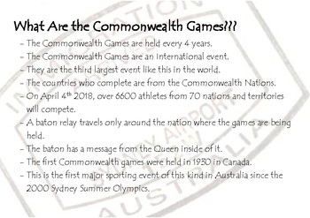 Commonwealth Games - Passport to the Games