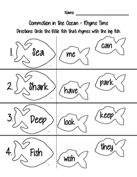 Commotion in the Ocean - Rhyme Time