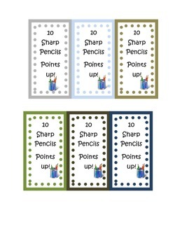 Communal Supply Box Labels with Dots Custom Optional