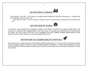 Communautés urbaine, rurale ou spatiale?