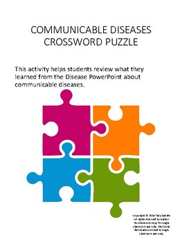 Communicable Disease Crossword Puzzle