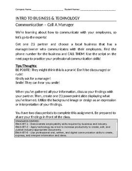 Communicate Like a Boss - Partner Activity