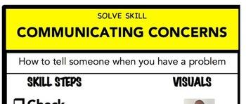 Communicating Concerns Social Skill Steps Poster - The Empower Program K-2
