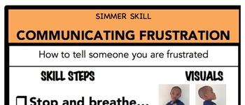 Communicating Frustration Social Skill Steps Poster - The Empower Program K-2