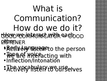 Communicating - Messages received and messages sent