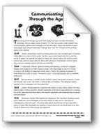 Communicating Through the Ages/La communicación a través de los años