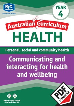 Communicating and interacting for health and wellbeing – Year 4