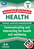 Communicating and interacting for health and wellbeing – Year 5