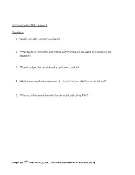Communication 101 AAC and Total Communication (Lesson 2 in the series)