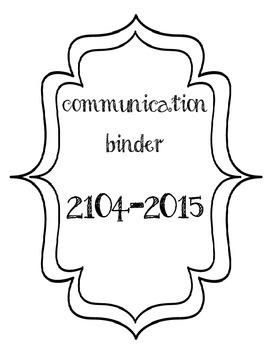 Communication Binder