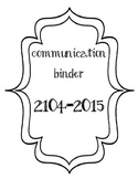 Communication Binder