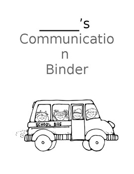 Communication Binder Cover