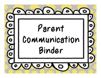 Communication Binder (Space Themed)