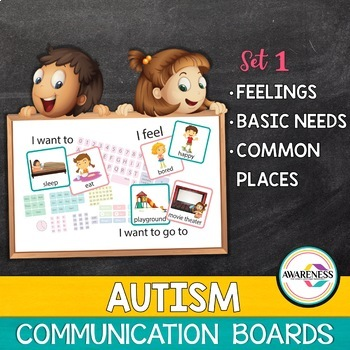 Communication Board; Basic needs, Feelings and Common Places