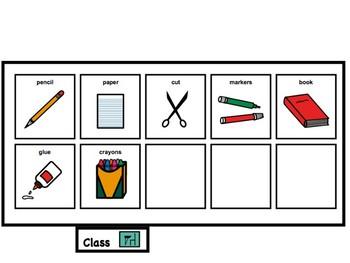 Communication Board Flip Book