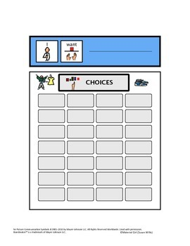 Speech Therapy Communication Board I WANT Request BOY CLOTHES Autism Non verbal